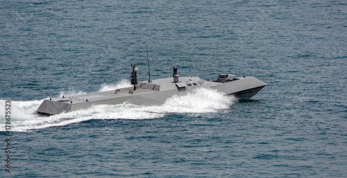 Singapore Navy's new high speed naval interceptor Canvas Print
