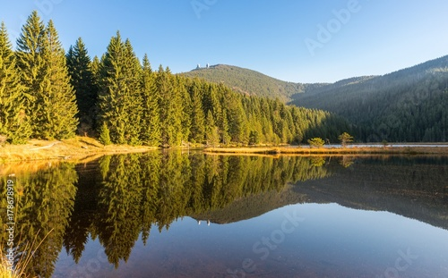 Photo Kleiner Arber See im Herbst, Bayern, Deutschland