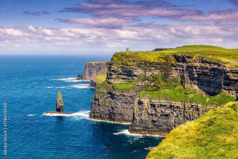 Fototapety, obrazy: Cliffs of Moher Klippen Irland Reise Meer Tourismus Natur Ozean