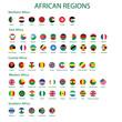 African region flags