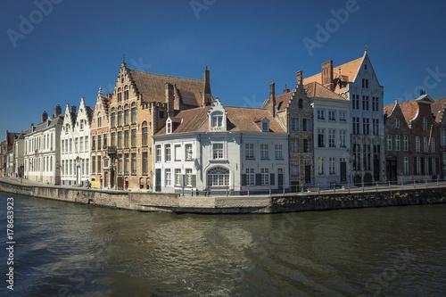 Poster Brugge Brügge - mittelalterliche Stadt in Westflandern, Belgien, Niederlande