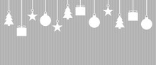 Hintergrund Hellgrau Mit Weißer Weihnachtsdeko