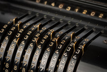 Details Of A Mechanical Calculator From The 19th Century