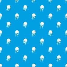 Jellyfish Pattern Seamless Blue