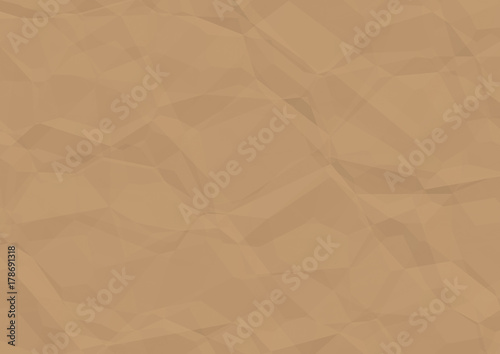 Fotografia, Obraz  Creased Brown Paper Texture