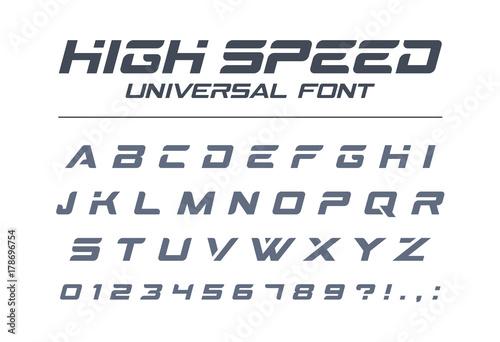 Fotografía  High speed universal font