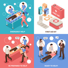 First Aid Isometric Concept