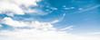 Leinwandbild Motiv Sky and clouds tropical panorama