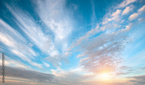 Canvas Prints Heaven Sunrise summer sky panorama