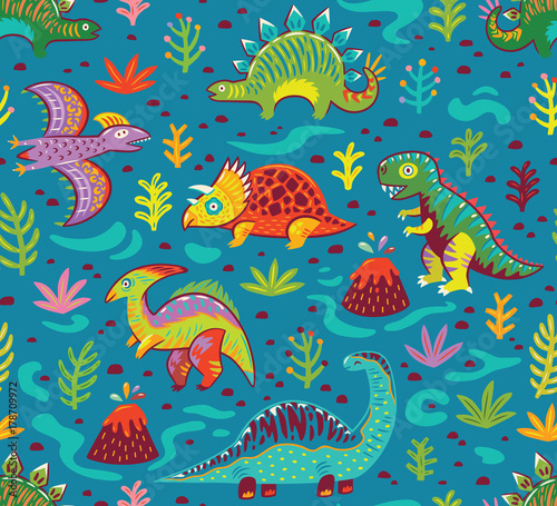 cute-cartoon-dinosaurs-endless-background