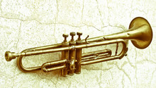 An Ancient Jazz Trumpet Hangin...