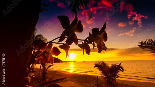 Sonnenaufgang Sonnenuntergang Canvas Print