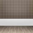 3d interior rendering of brown wallpaper and wooden floor 2487