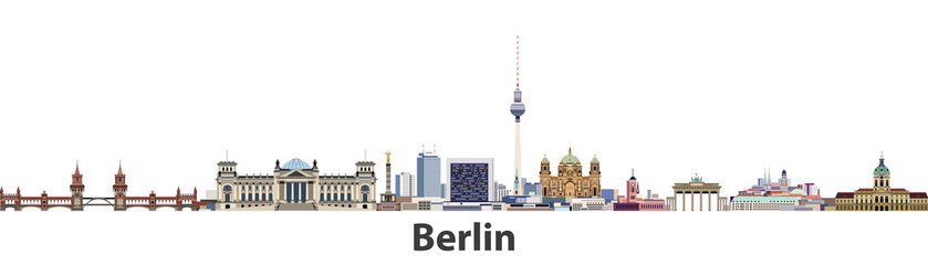 FototapetaBerlin vector city skyline