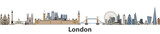 Fototapeta London - London vector city skyline