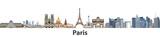 Fototapeta Paryż - Paris vector city skyline