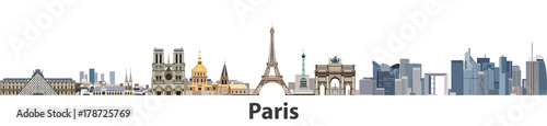 Paris vector city skyline Fototapet
