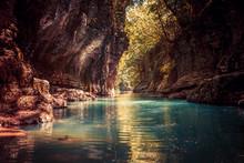 Martvili Canyon In Georgia. Be...