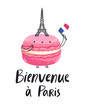 Welcome to Paris macaron character