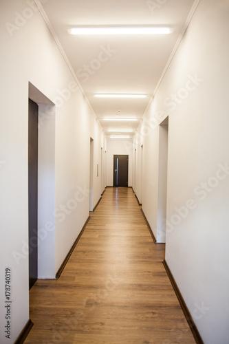 Fotografie, Tablou  photo of empty corridor with many doors