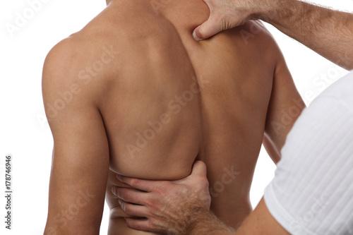 Fotografie, Obraz  Chiropractic back adjustment