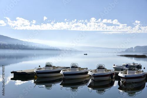 Embarcadère  du lac de Saint-Point (Doubs) Canvas Print