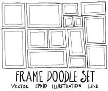 Set Of Frame Illustration Hand...