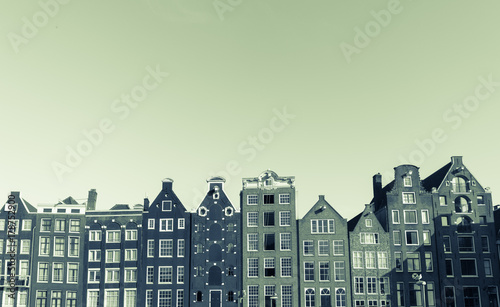 Architectural facades of a range of styles for which the city is known on other Wallpaper Mural