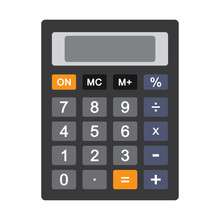 Colored Calculator Icon Isolat...