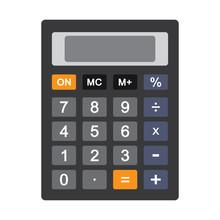 Colored Calculator Icon Isolat...