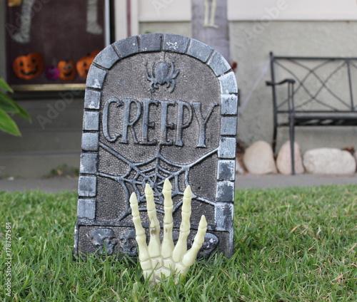 Photo Halloween Gravestone