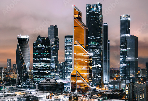 Moscow International Business Center (Moscow City), Russia Canvas Print