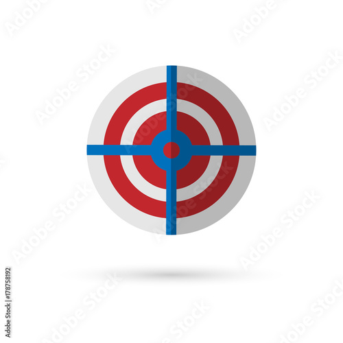 Target Symbol On White Background Buy This Stock Vector And