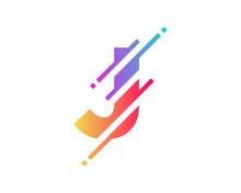 Digital Letter J Pixel Icon Lo...