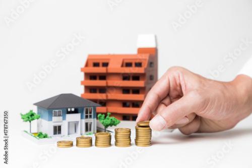 住宅とお金 Canvas Print