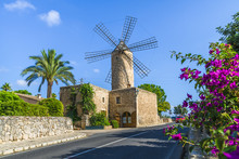 Medieval Windmill In Palma Mal...