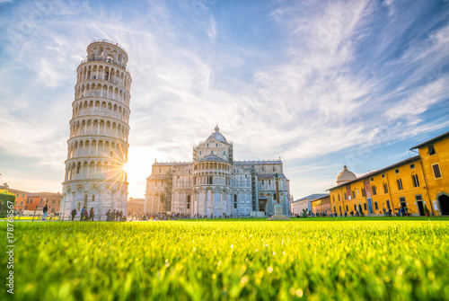 Fotografia, Obraz Pisa Cathedral and the Leaning Tower