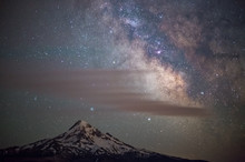 Mt. Hood And The Milky Way At ...