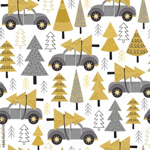 wzor-samochody-w-lesie