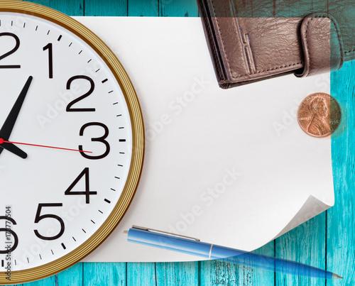 Zdjęcie XXL Okrągły zegar ścienny