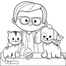 Veterinarian And Pets. Colorin...