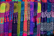 Colorful scarfs on the asian market