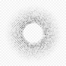 Halftone Dotted Circular Patte...