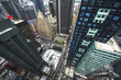 Aerial view of Manhattan skyline, New York City