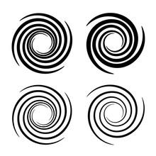 Vortex Circular Swirl Lines Bl...