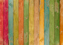 Vivid Colorful Wood Planks Texture Or Background