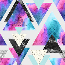 Triangles With Watercolor, Doo...