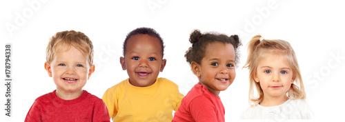 Photo  Many portraits of different children