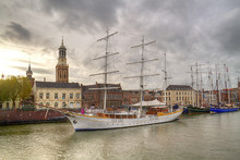 Sailing Ships On The Quay Of T...