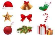 Christmas Symbols Set. Colorfu...
